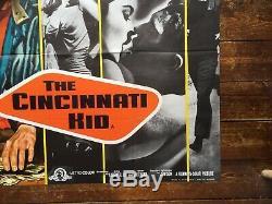 Rare, Original The Cincinatti Kid 1965 Quad Film Poster