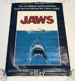 Rare! Vintage Original 1975 Poster Pros Jaws Movie Poster Steven Spielberg Shark