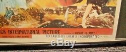 Rare-original 1954 Gone With The Wind Movie Theater Poster+lit Marque/window