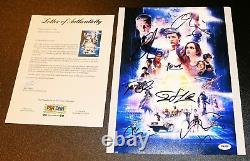 Ready Player One 11x14 Tye Sheridan +6 Cast Autograph Poster Pic Psa Jsa Bas