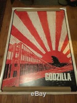 Recalled GODZILLA BUS SHELTER WILDING 6x4 Original Movie Poster Kaiju Francisco