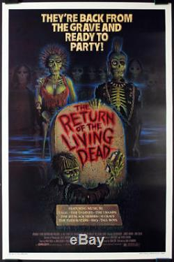 Return of the Living Dead RARE Original 1982 Rolled One Sheet Movie Poster SHARP