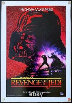 Revenge of the Jedi Original Movie Poster One Sheet Linen Backed (27x41)