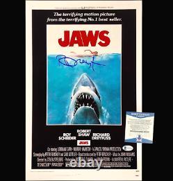 Richard Dreyfuss autograph signed Jaws 11x17 movie poster photo BAS COA Beckett