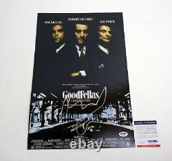 Robert De Niro DeNiro Goodfellas Signed Autograph Movie Poster PSA/DNA COA
