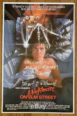 Robert Englund Signed A Nightmare On Elm Street 11x17 Movie Poster Cert HOLOGRAM
