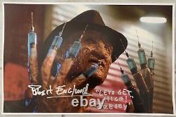 Robert Englund Signed A Nightmare On Elm Street 11x17 Needles Poster Cert HOLO