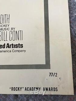 Rocky 1977 Original 1 Sheet Movie Poster Style B 27x41 (f+) Sylvester Stallone