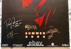 Ron Perlman, Mike Mignola, And Hellboy Cast Signed 27 X 40 Poster