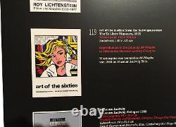 Roy Lichtenstein, 1979, TEL AVIV MUSEUM Original SILKSCREEN Poster, REDUCED $900