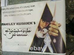 S Kubrick's A CLOCKWORK ORANGE MOVIE POSTER ORIGINAL 27 x 40 Printed in England