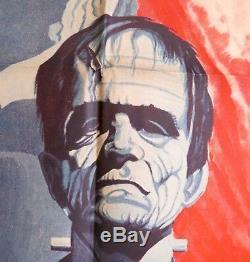 SANTO EN EL MUSEO DE CERA Frankenstein Dracula Wax Museum MEXICAN MOVIE POSTER