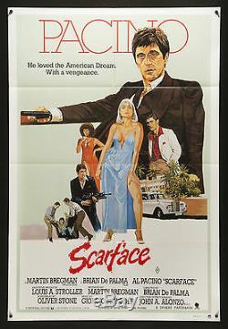 SCARFACE 1983 Austaralian 1 Sheet poster Al Pacino Brian DePalma filmartgallery