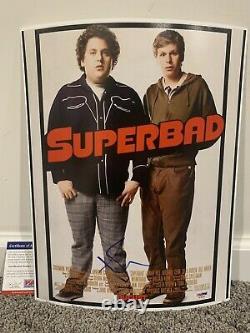 SETH ROGEN Superbad SIGNED Autograph 11x14 Movie Poster Photo withPSA COA
