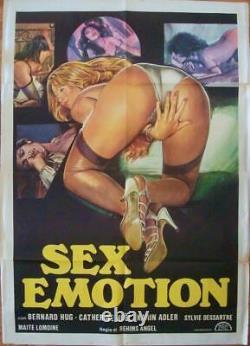 SEX EMOTION Italian 2F movie poster 39x55 SEXPLOITATION 1977