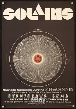 SOLARIS 1972 Amazing Polish poster Exc condition Andrei Tarkovsky filmartgallery