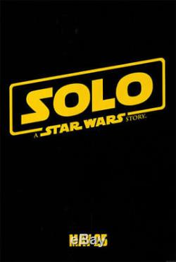 SOLO A STAR WARS STORY Original DS 27x40 Movie Poster CHARACTER SET + Teaser