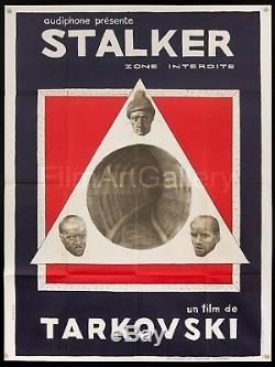 STALKER 1981 French 47x63 poster Andrei Tarkovsky Bougrine art filmartgallery