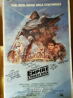 STAR WARS Cast SIGNED Autograph Empire Strikes Back Poster Prowse Mandalorian ++