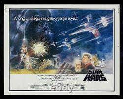 STAR WARS CineMasterpieces 1977 RARE ORIGINAL HALF SHEET MOVIE POSTER