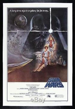 STAR WARS CineMasterpieces 1977 STYLE A LINEN BACKED ORIGINAL MOVIE POSTER