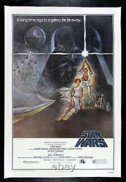 STAR WARS CineMasterpieces STYLE A LINEN BACKED ORIGINAL MOVIE POSTER 1977
