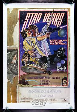 STAR WARS CineMasterpieces VINTAGE ORIGINAL MOVIE POSTER LINEN BACKED 1977