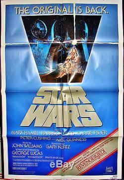 STAR WARS Original 1982 MOVIE POSTER 27x41R820106 & REVENGE OF THE JEDI Trailer