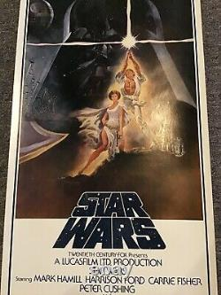 STAR WARS Original Video Store Style Release insert 1977 Poster
