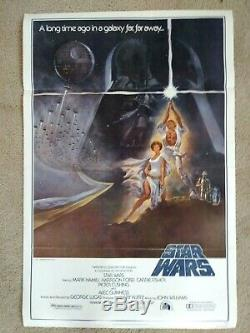 STAR WARS STYLE A TRI FOLD 27 x 41 1 sheet original vintage 1977 movie poster