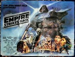 STAR WARS THE EMPIRE STRIKES BACK (1980) original UK quad movie poster