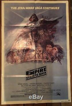 STAR WARS THE EMPIRE STRIKES BACK original 1980 1-sheet Movie Poster style B