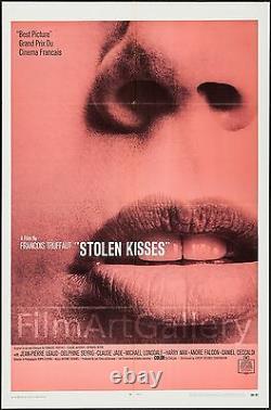 STOLEN KISSES 1969 1 Sht poster Francois Truffaut Antoine Doinel Filmartgallery