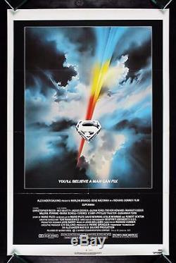 SUPERMAN CineMasterpieces VINTAGE ORIGINAL MOVIE POSTER 1978
