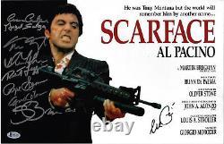 Scarface Cast Signed 11x17 Movie Poster Photo Al Pacino Beckett BAS LOA