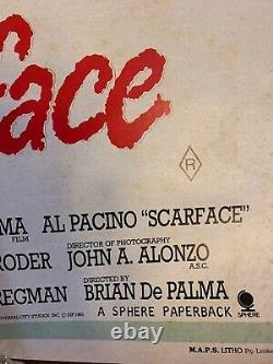 Scarface Original Australian Daybill Poster Folded