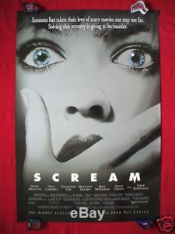 Scream 1996 Original Movie Poster 1sh Double Sided D/s Wes Craven Halloween Nm