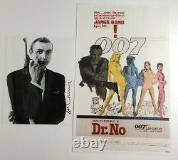 Sean Connery signed 8x10 Photo autographed Picture James Bond with Dr. No Poster