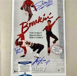 Shabba-Doo & Boogaloo Shrimp signed Breakin 11x17 movie poster photo BAS COA