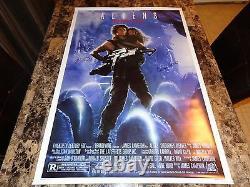 Sigourney Weaver & Carrie Henn Rare Signed Aliens One Sheet Movie Poster Ripley