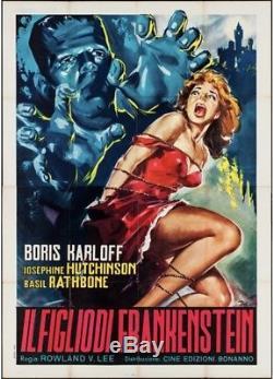 Son of Frankenstein Vintage 1963 Large 55 X 77 Original Horror Movie Poster