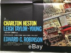 Soylent Green Original UK Movie Quad Poster 1973 Charlton Heston, John Solie Art