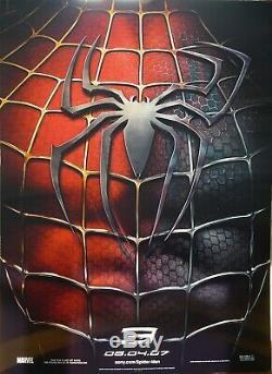 Spider Man 3 Rare Original Lenticular Us Poster Sam Raimi / Maguire / Marvel