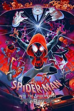 Spider-Man Into the Spider-Verse Mondo Alternative Movie Poster by Martin Ansin