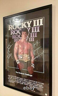 Stallone & Hulk Hogan ROCKY III Autographed Poster ASI Proof Look Close Balboa