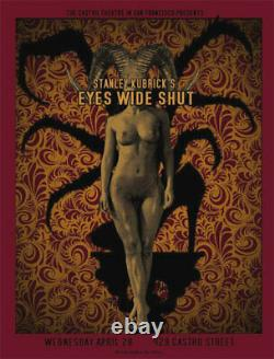 Stanley Kubrick Eyes Wide Shut Silkscreen Movie Poster Castro Theatre O'Daniel