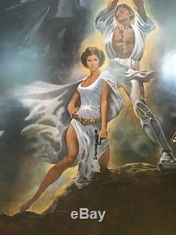 Star Wars 1977 Original Movie Poster 1SH 1st Printing Int. Style A 77/21-0