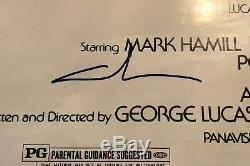 Star Wars Full Cast Signed 27x40 Poster Ford Fisher Hamill Lucas Kurtz Jej +more