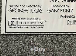 Star Wars Original Film Poster USA Release 1977 Vintage