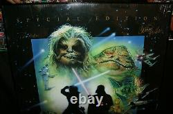 Star Wars Poster Autographed x7 Hamill Fisher Prowse Mayhew Baker Bulloch Signed